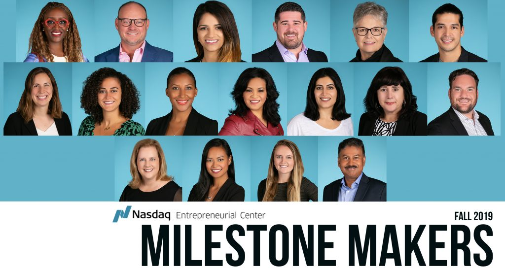 Meet the Entrepreneurs In Our Fall 2019 Milestone Makers Cohort